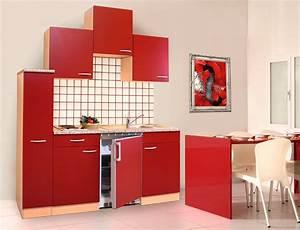 Küche 180 Cm : k che singlek che k chenzeile k chenblock minik che 180 cm buche rot respekta ebay ~ Watch28wear.com Haus und Dekorationen
