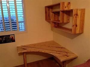 DIY Pallet Computer Desk with Wall Shelf