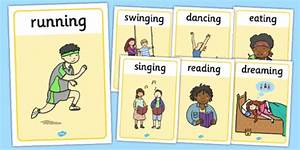 Verb Action Display Posters