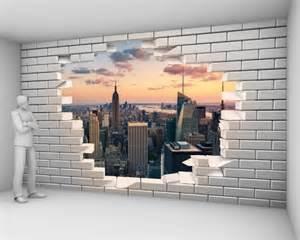 Papier Peint Brique New York by Un Mur De Briques Blanches Cass 233 Es Toiles Textiles Ou Vinyle