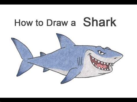 draw  shark cartoon youtube