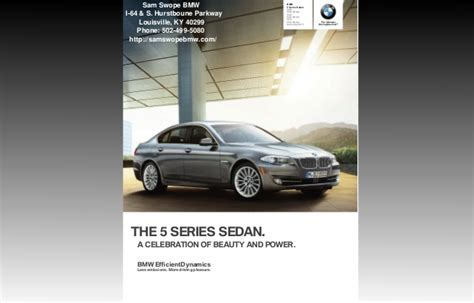 Swope Bmw Service by 2013 Bmw 5 Series Brochure Ky Louisville Bmw Dealer