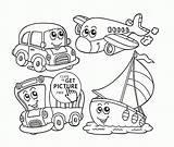 Coloring Transportation Cartoon Kindergarten Air Printable Preschoolers Limousine Wuppsy Transport Printables Preschool Sheet Template Worksheets Kinder Limo Balloons Bus Getdrawings sketch template