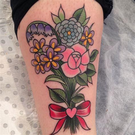 Flower Bouquet Tattoo  Ebony Mellowship Neotraditional