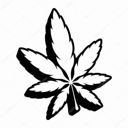 Weed Leaf Marijuana Pot Symbol Vector Plant