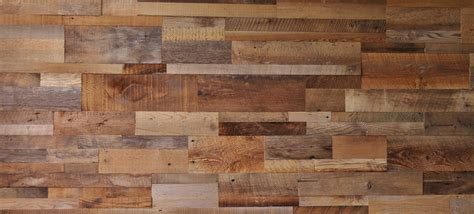 DIY Reclaimed Barn Wood Accent Wall Brown Natural Mixed