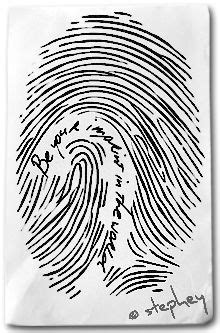 Finger print with the words.... Something for my daughters with their prints | mother daughter