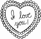 Valentine Heart Coloring Pages sketch template