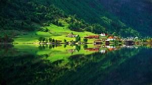 Wallpapers Fair: Natural Green Summer Forest Lake ...