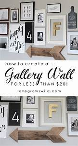 living room gallery wall love grows wild With kitchen decals for walls ideas you can apply at home