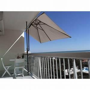 Parasol De Terrasse : parasol balcon l o taupe rectangulaire x cm leroy merlin ~ Teatrodelosmanantiales.com Idées de Décoration