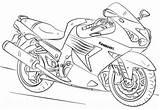 Coloring Kawasaki Pages Motorcycle Printable Cool Getdrawings Motor sketch template