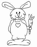 Rabbit Coloring Pages Template Templates Shape Bunny Easter Colouring Craft sketch template