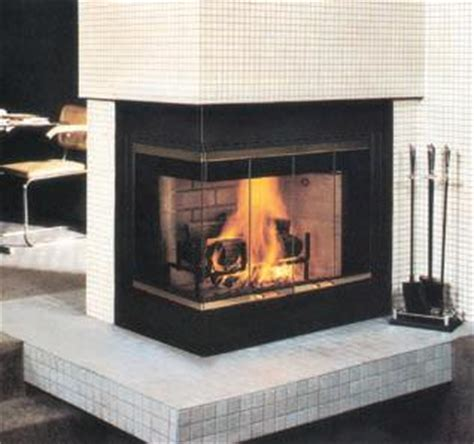 open corner fireplace vantage hearth corner 36 inch radiant heat smooth faced wood burning fireplace with right side open