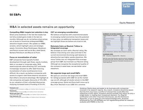 goldman sachs  ep equity research report