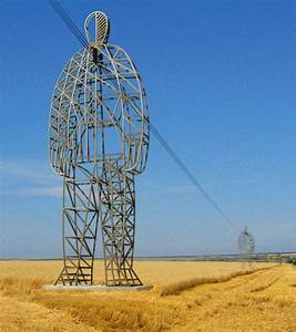 These Beautiful Giant Sculptures Support Power Lines With