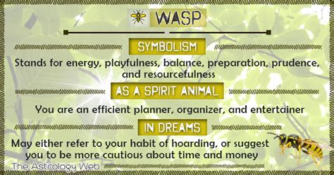 wasp meaning  symbolism  astrology web