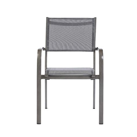 Ensemble Table Et Chaise De Jardin En Aluminium Gris