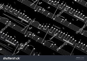 White Music Notes On Black Background Stock Photo 3134095 ...