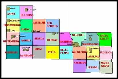 Shawano Townships County Map Township