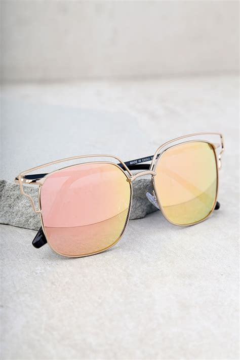 light pink sunglasses cool gold and pink sunglasses mirrored sunglasses