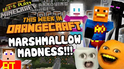 annoying orange lets play minecraft marshmallow madness