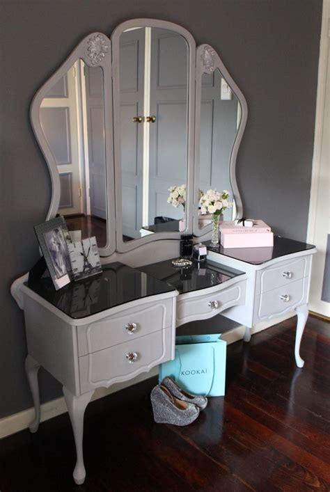 queen anne dressing table painted  paris grey love