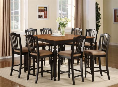 Bar Height Dining Room Table Sets 7pc Square Counter Height Dining Room Table Set 6 Stool Ebay
