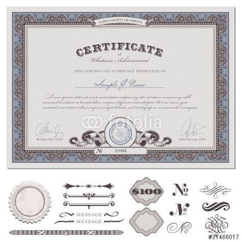 vector certificate  coupon actual