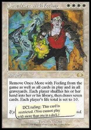 Once More With Feeling  Unglued Magic The Gathering