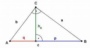 Fehlende Größen Im Dreieck Berechnen : gr en seiten im rechtwinkligen dreieck berechnen satz des pythagoras kathetensatz ~ Themetempest.com Abrechnung