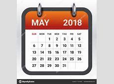 Mayıs 2018 takvim vektör çizim — Stok Vektör © dolphfynlow