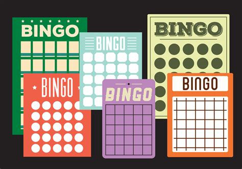 bingo cards   vector art stock graphics