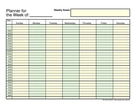 daily planner template word 7 free weekly planner templates excel pdf formats