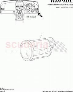 Aston Martin Rapide Fuel Flap Release Switch Parts