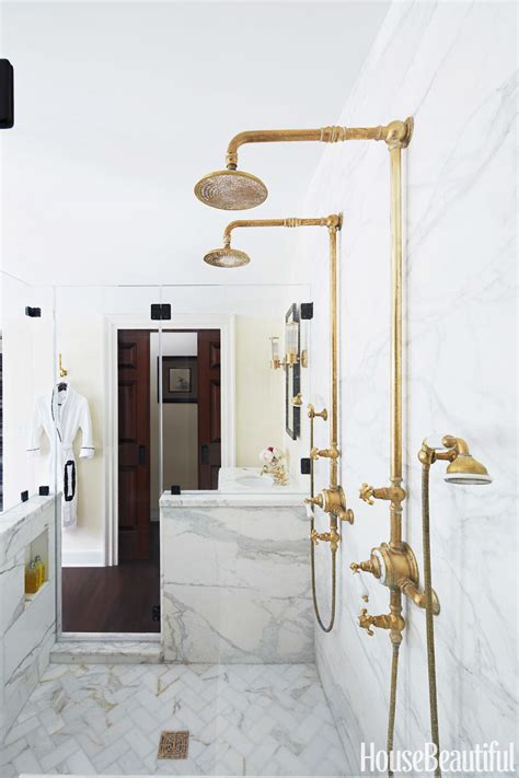 Four Fixture Bathroom by 18 Gorgeous Marble Bathrooms With Brass Gold Fixtures