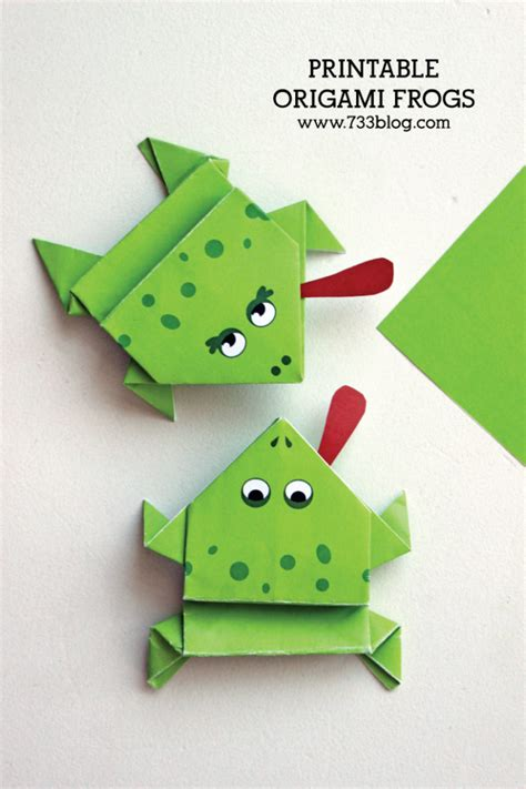 printable origami frogs inspiration  simple