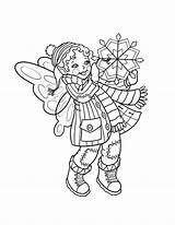 Coloring Fairy Winter Doll Snowflake Pages Holding Lovely Colouring Printable Season Dolls Fun Sheets Adult Penguin Getcolorings Play Christmas Books sketch template