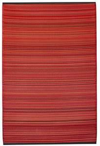 garten im quadrat outdoor teppich cancun streifen rot With balkon teppich mit tapeten vlies modern