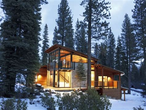 mountain cabin lake modern mountain house lake tahoe camp design plans treesranchcom