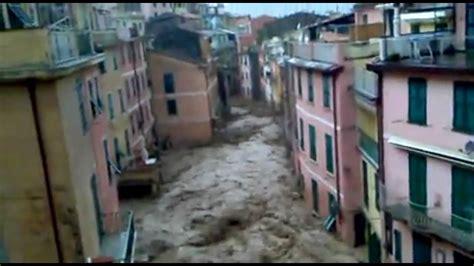 vernazza flood october   youtube