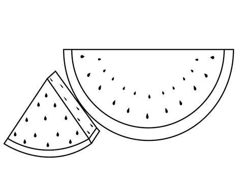 coloring pages for watermelon coloring pages to print