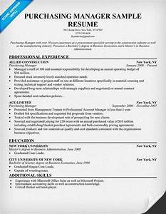 purchasing manager resume resumecompanioncom resume With purchase resume templates
