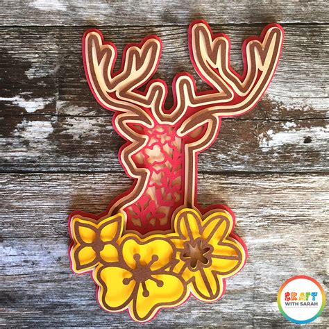 There are 4551 layered mandala svg files for cricut for sale on etsy, and they cost $6.67 on average. Stag Head Layered SVG | Craft With Sarah