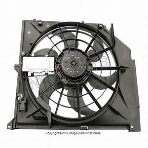 Bmw E46 323 325 328 330 Engine Cooling Fan Motor Assembly