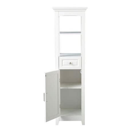bathroom linen tower with drawers chamber collection 15 87 in w laminate bathroom linen