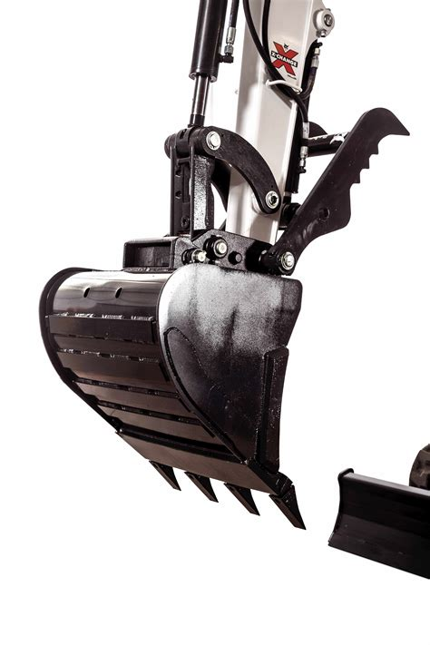 bobcat intros redesigned grading  trenching buckets  compact excavators