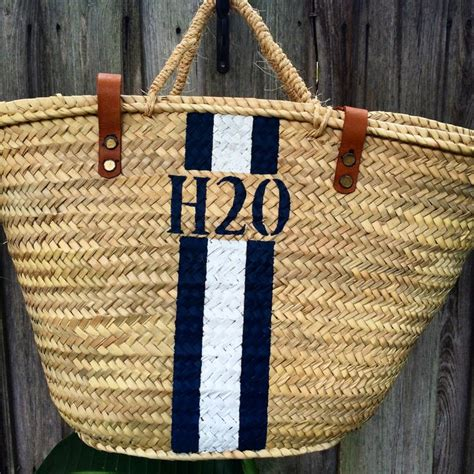 images  monogrammed straw bags personlized