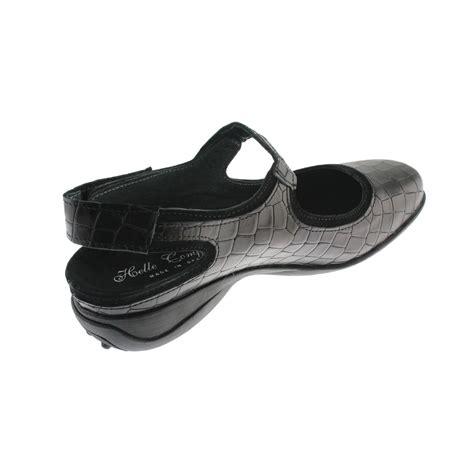 helle comfort shoes helle comfort 0382 womens black leather croc