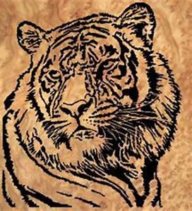 07-A6-3 - Tiger Downloadable PDF Scroll Saw Pattern